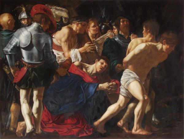 Cecco del Caravaggio, Kristus klesá pod krížom