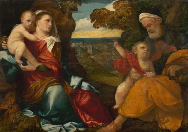 Bonifazio de´Pitati, Sv. rodina s malým Jánom Krstiteľom