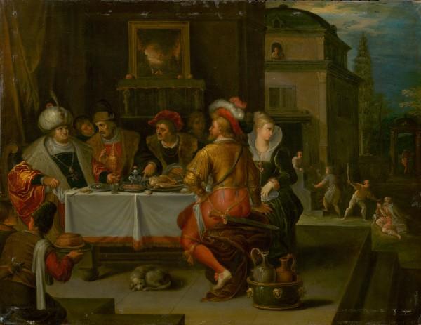 Frans Francken II., Podobenstvo o boháčovi a Lazarov