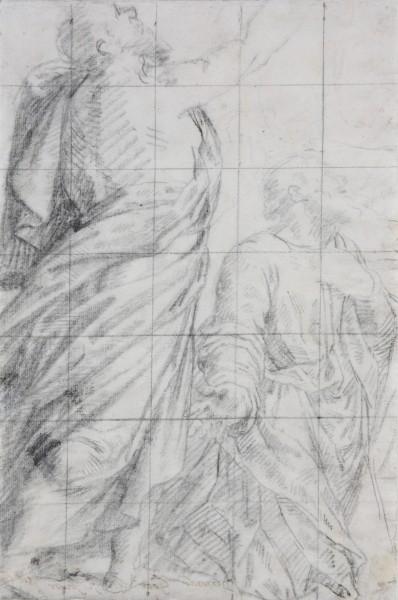 Bernardino Gatti, Štúdia dvoch mužských postáv k obrazu Nanebovzatia pre Dóm v Cremone