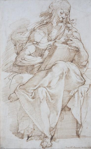 Bartolomeo Passarotti, Štúdia sediaceho evanjelistu