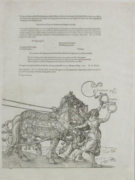 Albrecht Dürer, Veľký triumfálny voz (I–VIII)