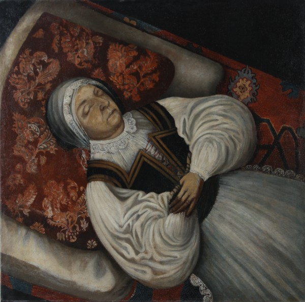 Unknown /Slovak (?)/ artist from the last third of the 17th century, Post-mortem Portrait of Katarína Horvath-Stansith, nee Kiss.