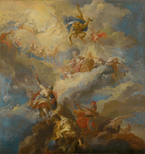 Johann Michael Rottmayr, Triumph of Love (sketch for the ceiling painting)