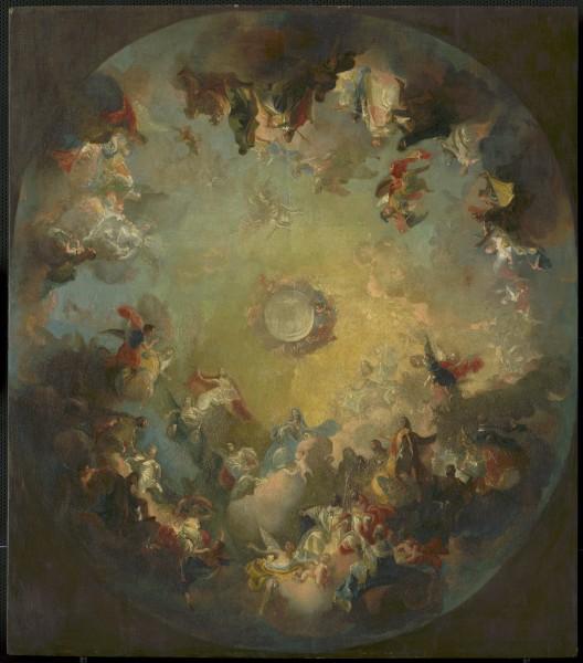 František Anton Maulbertsch (circle), Assumption of the Virgin Mary (Celebration of the Holy Trinity by All Saints)