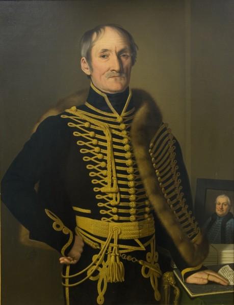 Jozef Czauzcik, Administrátor šesnástich spišských miest barón I. Fischer s portrétom I. H. Stansitha