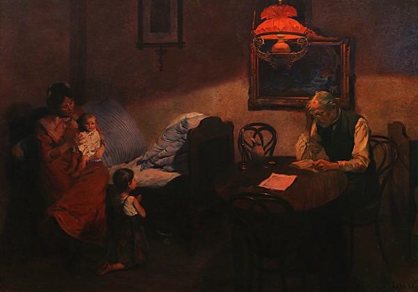 Gustáv Mallý, Večerná modlitba