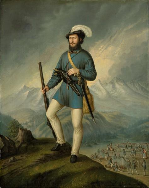 Peter Michal Bohúň,  Portrét Jána Francisciho ako dobrovoľníka