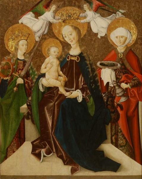 Majster Martin, Tróniaca Madona medzi sv. Katarínou a sv. Alžbetou (Tabuľa z Jánoviec)