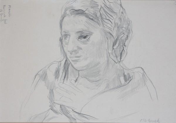 Oskar Kokoschka, Study of Female Head