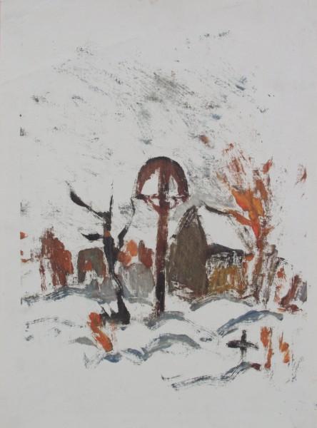 Zolo Palugyay, Dedinský cintorín v zime