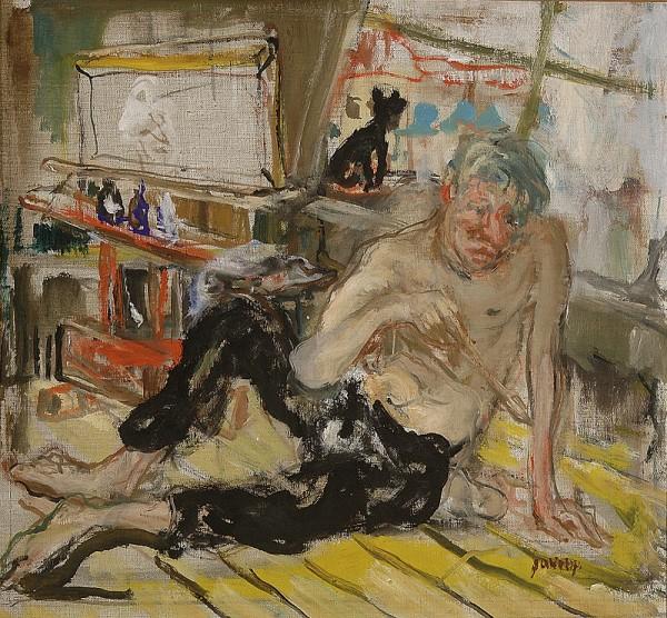 Július Jakoby, Maliar s čiernou mačkou