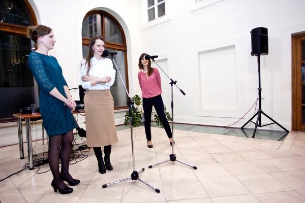 zľava Lucia Gregorová, Alexandra Kusá,  Vladimíra Büngerová,
