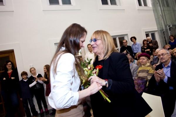Alexandra Kusá, generálna riaditeľka SNG a autorka Jana Želibská,