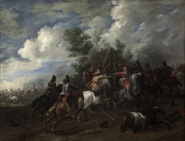 Pieter Meulener, Jazdecká bitka