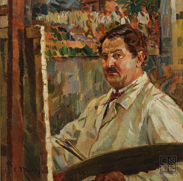 Gustáv Mallý, Self-Portrait
