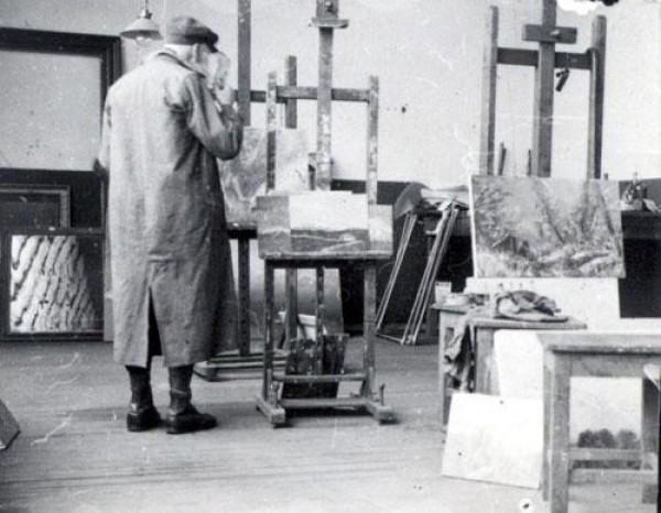 Archív SNG, Ladislav Mednyánszky v ateliéri