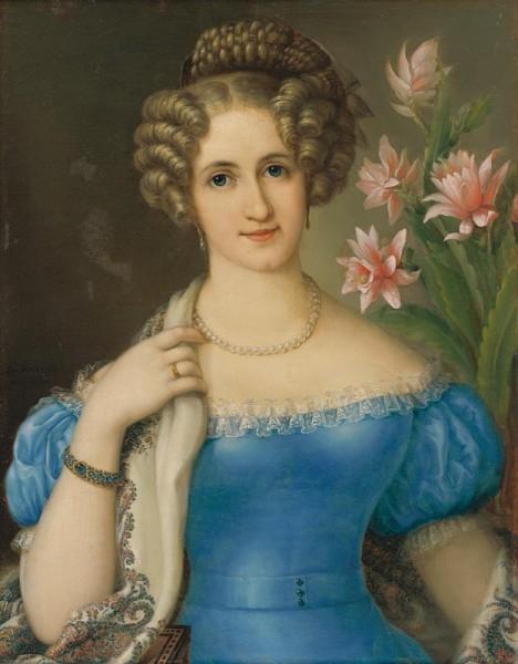 Jozef Ginovský , Podobizeň mladej dámy v modrom šate