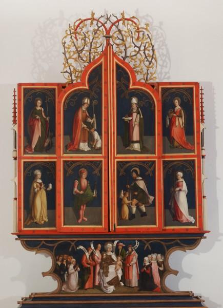 Neznáma dielňa , Oltár Ružencovej Panny Márie. (Korutánsko)