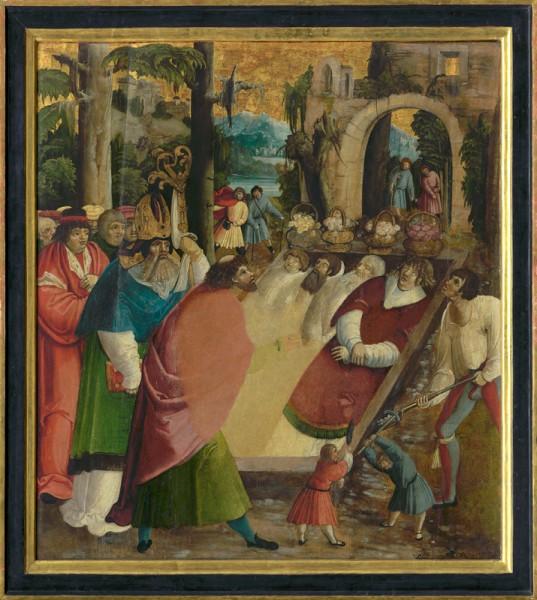 Majster Historiae Friderici et Maximiliani, Nesenie Kríža (Podunajsko)