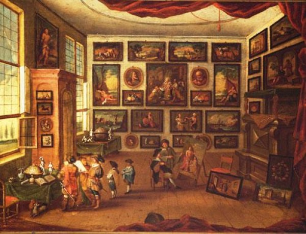 Copy afer Hans Jordaens IIIth , Cabinet of Curiosities