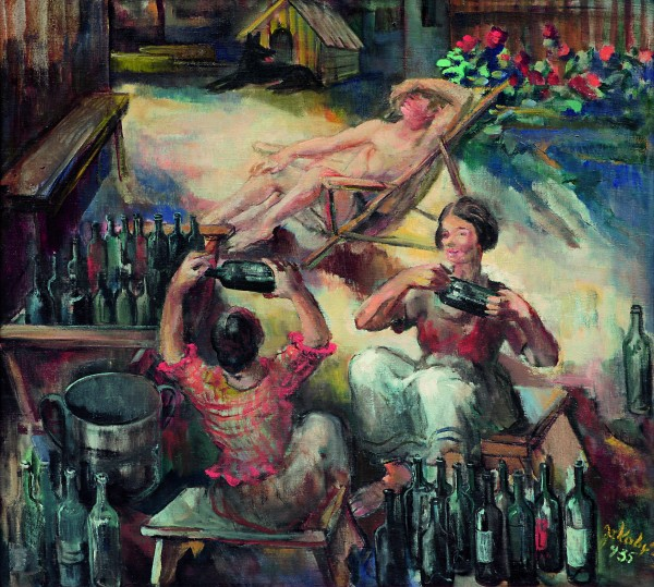 Július Jakoby, Washing Bottles