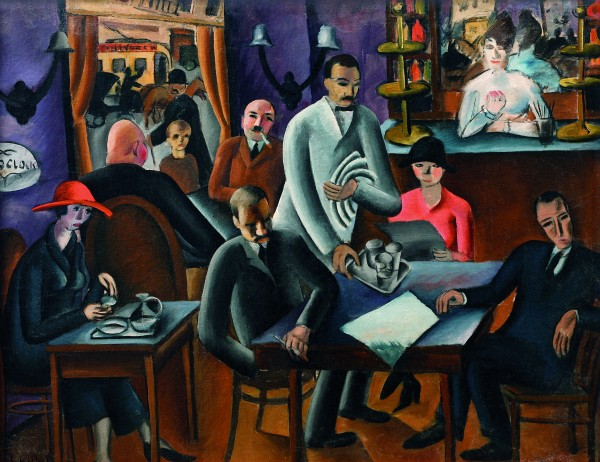 Gejza Schiller, In the Coffee House