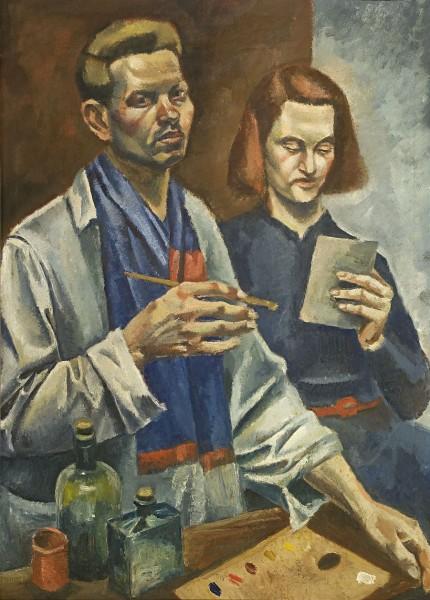 Ernest Zmeták, Autoportrét s modelkou (Dvaja)