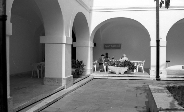 Archive SNG , Café Triton in SNG courtyard