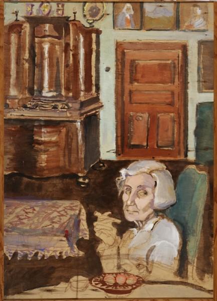 Margita Czóbelová, Self-Portrait with Cigarette