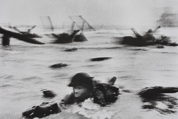 Robert Capa (1913 – 1954), The first wave of American troops landing on D-Day. Omaha Beach, near Colleville-sur-Mer, Normandy coast.