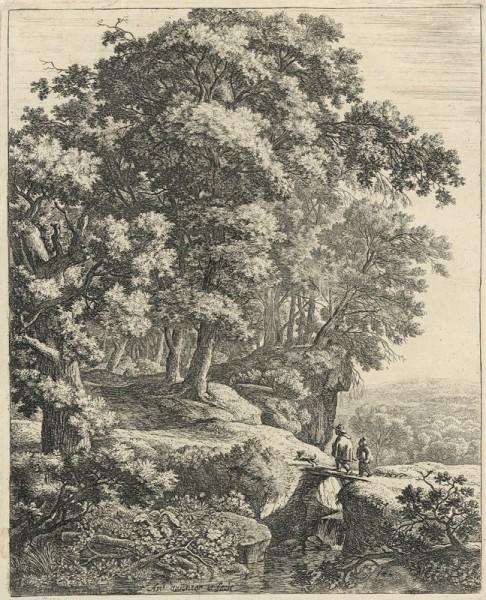 Antoni Waterloo, Prechod cez potok (Hrbáčik)