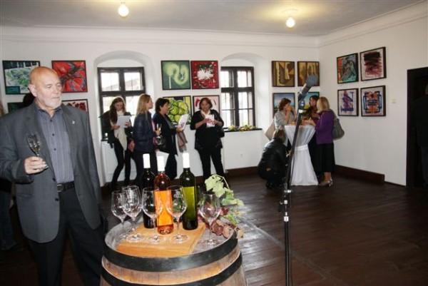 Archív SNG, Foto z vernisáže in vino veritas